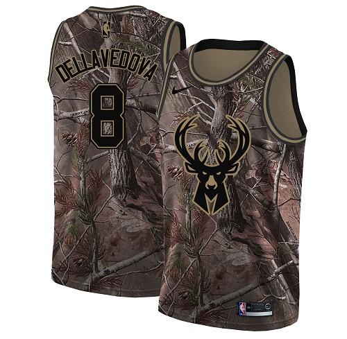 Nike Bucks #8 Matthew Dellavedova Camo Youth NBA Swingman Realtree Collection Jersey