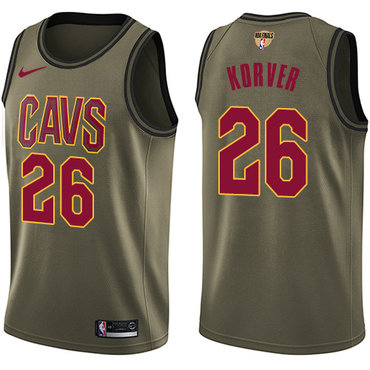 Nike Cavaliers #26 Kyle Korver Green Salute to Service The Finals Patch NBA Swingman Jersey