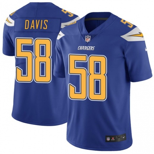 Nike Chargers 58 Thomas Davis Blue Color Rush Limited Jesrey