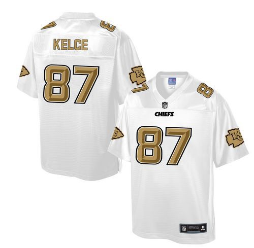 Nike Chiefs #87 Travis Kelce White Men's NFL Pro Line Fashion Game Jersey