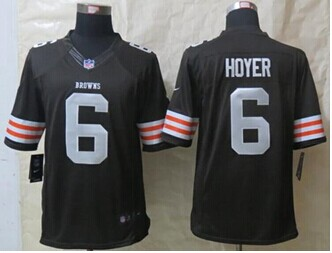 Nike Cleveland Browns #6 Brian Hoyer Brown Team Color NFL Limited Jersey