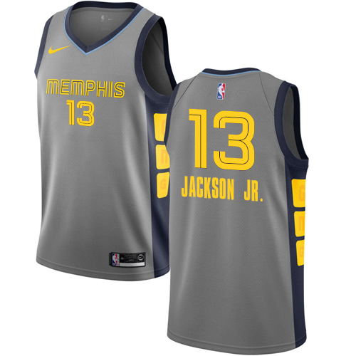 Nike Grizzlies #13 Jaren Jackson Jr. Gray NBA Swingman City Edition 2018 19 Jersey
