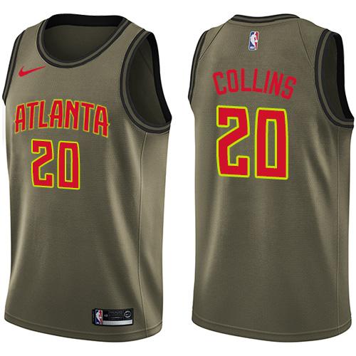 Nike Hawks #20 John Collins Green NBA Swingman Salute to Service Jersey