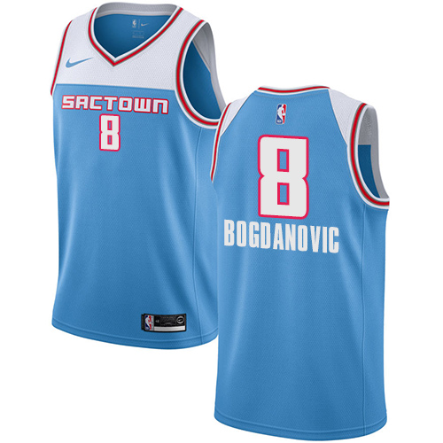 Nike Kings #8 Bogdan Bogdanovic Blue NBA Swingman City Edition 2018 19 Jersey