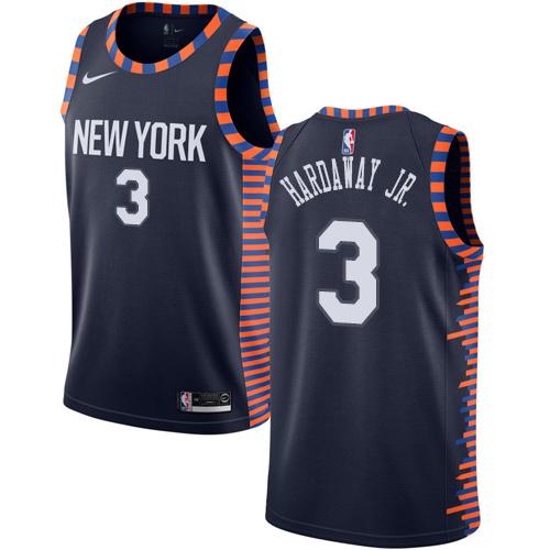 Nike Knicks #3 Tim Hardaway Jr. Navy NBA Swingman City Edition 2018 19 Jersey