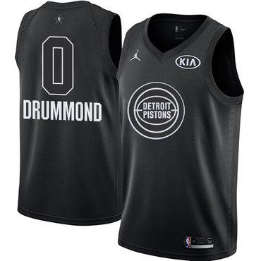 Nike Pistons #0 Andre Drummond Black Youth NBA Jordan Swingman 2018 All-Star Game Jersey