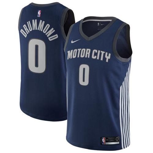 Nike Pistons #0 Andre Drummond Navy NBA Swingman City Edition Jersey