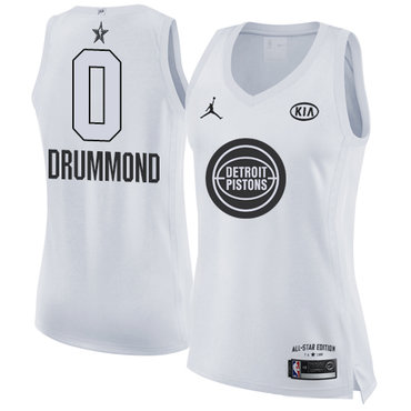 Nike Pistons #0 Andre Drummond White Women's NBA Jordan Swingman 2018 All-Star Game Jersey