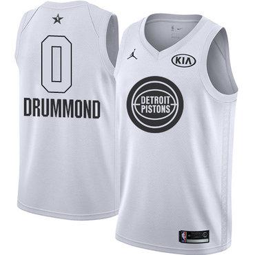 Nike Pistons #0 Andre Drummond White Youth NBA Jordan Swingman 2018 All-Star Game Jersey