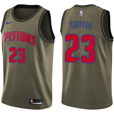 Nike Pistons #23 Blake Griffin Green Salute to Service NBA Swingman Jersey$44.00$23.50