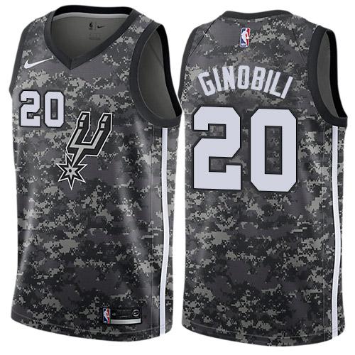 Nike Spurs #20 Manu Ginobili Black NBA Swingman City Edition 2018 19 Jersey