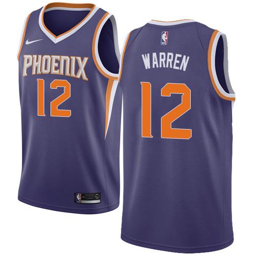Nike Suns #12 T.J. Warren Black NBA Swingman Statement Edition Jersey 0