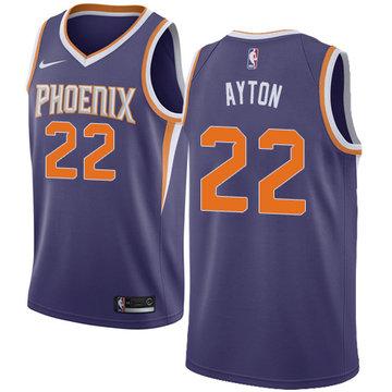 Nike Suns #22 Deandre Ayton Purple NBA Swingman Icon Edition Jersey