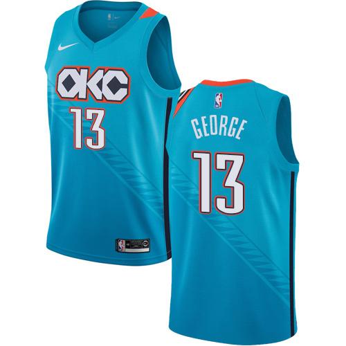 Nike Thunder #13 Paul George Turquoise NBA Swingman City Edition 2018 19 Jersey