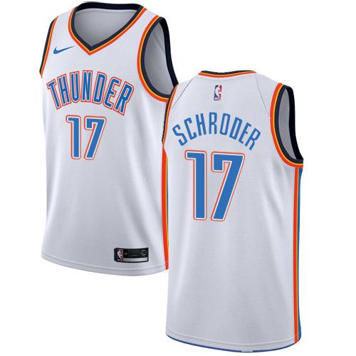 Nike Thunder #17 Dennis Schroder White NBA Swingman Association Edition Jersey