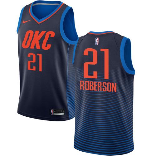 Nike Thunder #21 Andre Roberson Navy Blue NBA Swingman Statement Edition Jersey