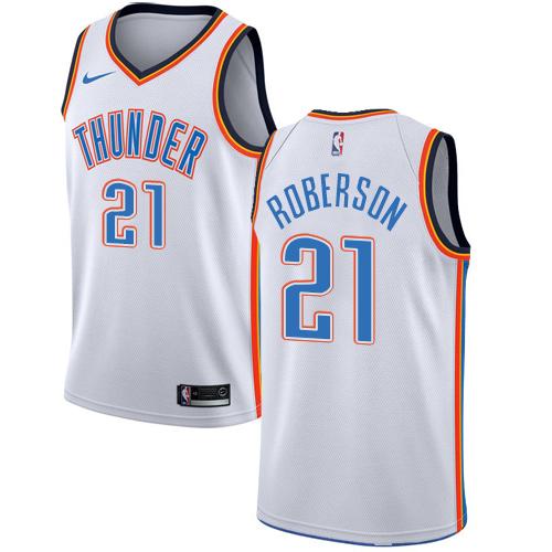 Nike Thunder #21 Andre Roberson White NBA Swingman Association Edition Jersey