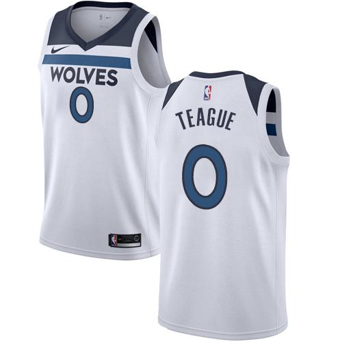 Nike Timberwolves #0 Jeff Teague White NBA Swingman Association Edition Jersey