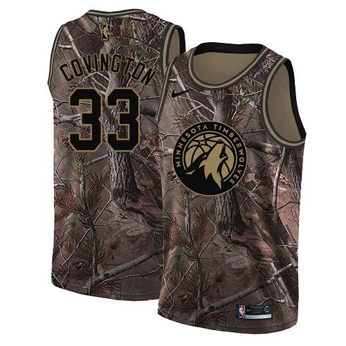 Nike Timberwolves #33 Robert Covington Camo NBA Swingman Realtree Collection Jersey