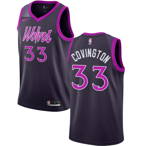 Nike Timberwolves #33 Robert Covington Purple NBA Swingman City Edition 2018 19 Jersey