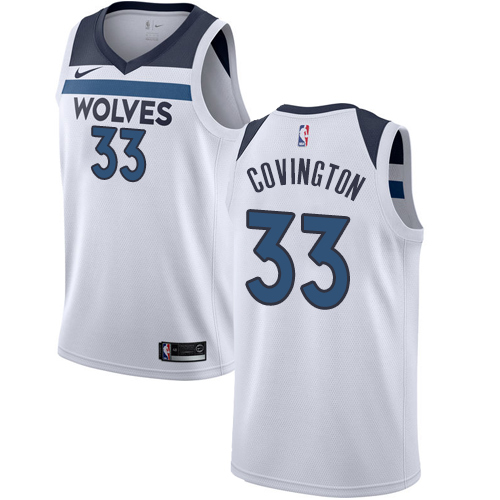 Nike Timberwolves #33 Robert Covington White NBA Swingman Association Edition Jersey
