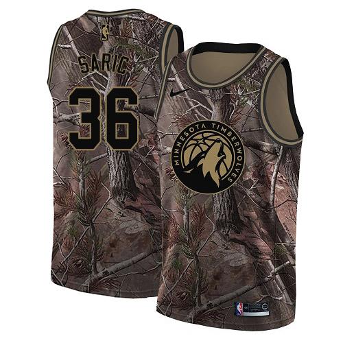 Nike Timberwolves #36 Dario Saric Camo NBA Swingman Realtree Collection Jersey