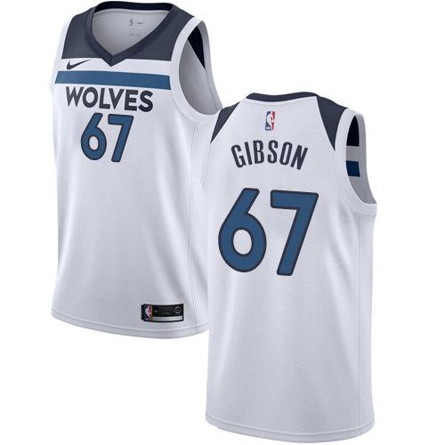 Nike Timberwolves #67 Taj Gibson White NBA Swingman Association Edition Jersey