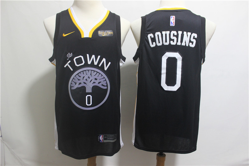 Nike Warriors 0 DeMarcus Cousins Black 2018-19 City Edition Nike Swingman Jersey