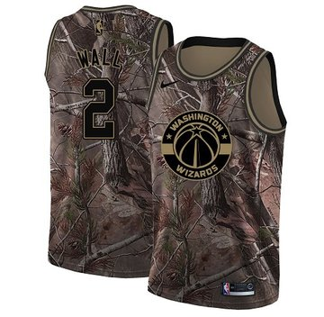 Nike Wizards #2 John Wall Camo Youth NBA Swingman Realtree Collection Jersey