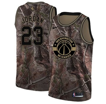 Nike Wizards #23 Michael Jordan Camo NBA Swingman Realtree Collection Jersey