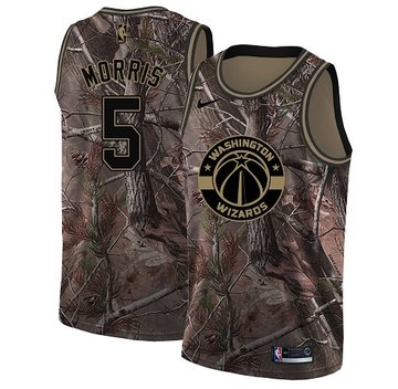 Nike Wizards #5 Markieff Morris Camo Youth NBA Swingman Realtree Collection Jersey