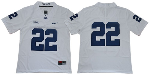 Nittany Lions #22 White Stitched College Jersey
