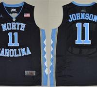 North Carolina #11 Brice Johnson Black Basketball Stitched NCAA Jersey