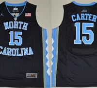 North Carolina #15 Vince Carter Black Basketball Stitched NCAA Jersey