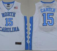 North Carolina #15 Vince Carter White Stitched NCAA Jersey