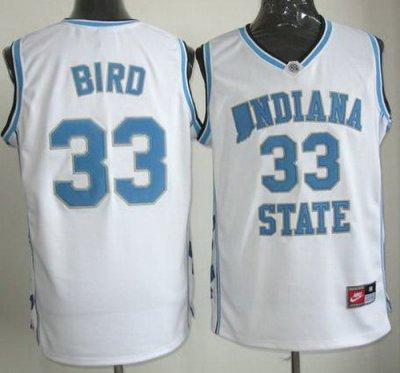 North Carolina 33 Larry Bird White NCAA Basketball Jerseys