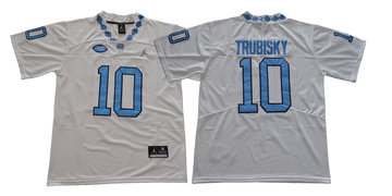 North Carolina Tar Heels 10 Mitch Trubisky White College Football Jersey