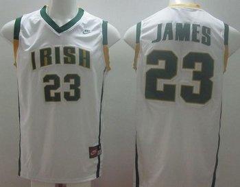 Notre Dame Fighting Irish #23 Lebron James White Basketball Stitched NCAA Jersey