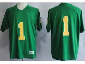Notre Dame Fighting Irish 1 Louis Nix III Green Techfit NCAA Jerseys