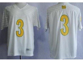 Notre Dame Fighting Irish 3 Joe Montana 2013 Shamrock Series White NCAA Jerseys