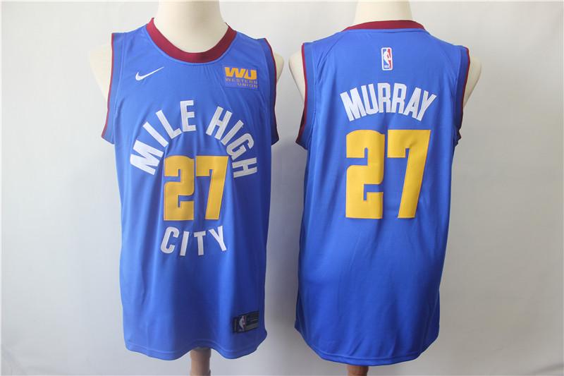 Nuggets 27 Jamal Murray Blue Nike Swingman Jersey