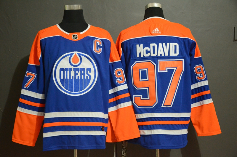 Oilers 97 Connor McDavid Royal Adidas Jersey