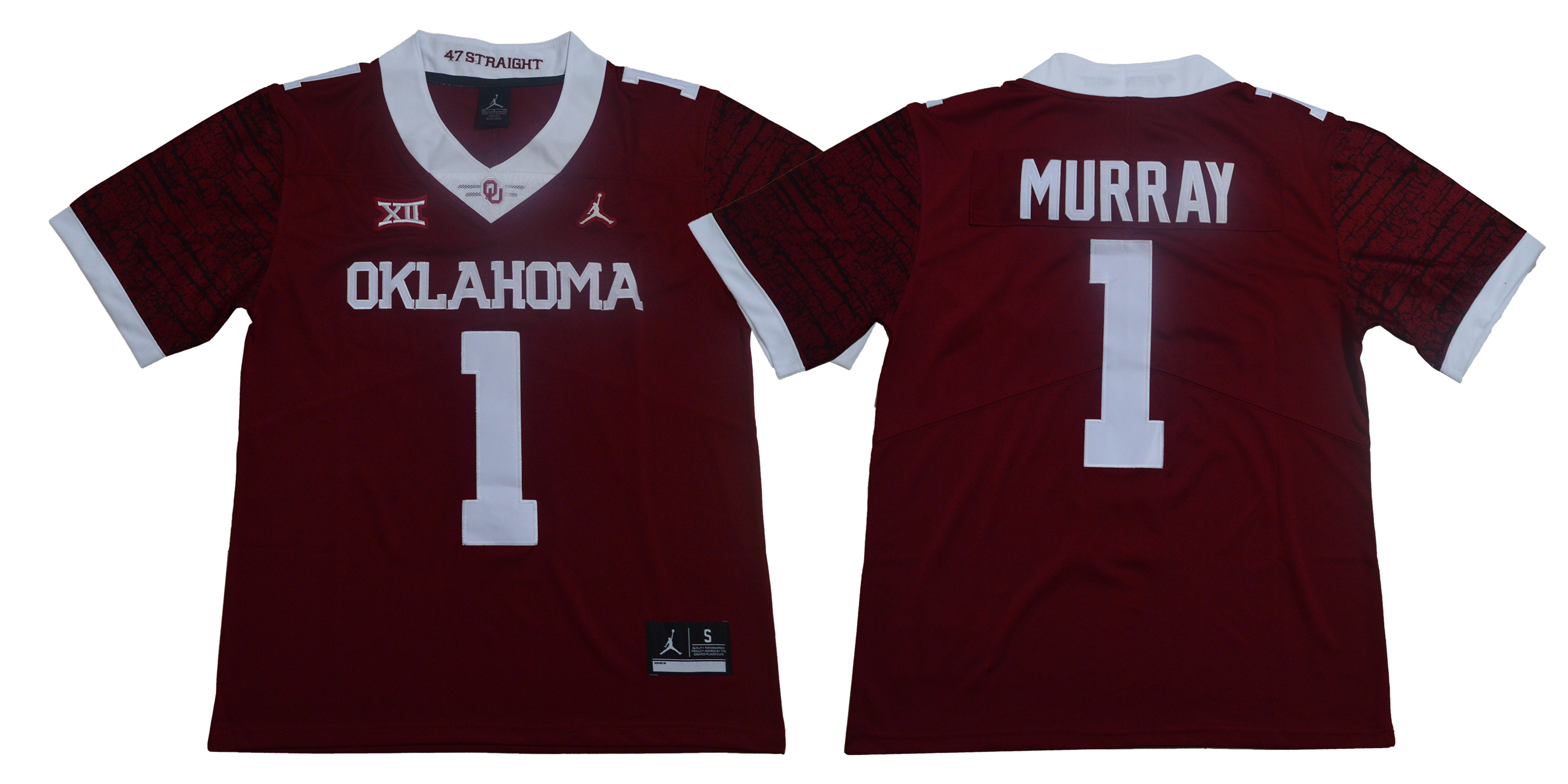 Oklahoma Sooners 1 Kyler Murray Red 47 Game Winning Streak College Football Jersey
