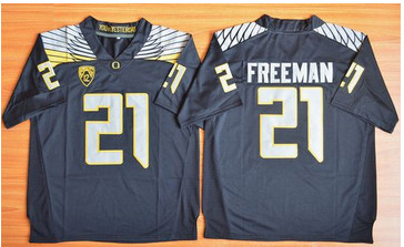 Oregon Ducks #21 Royce Freeman Black Limited Stitched NCAA Jersey