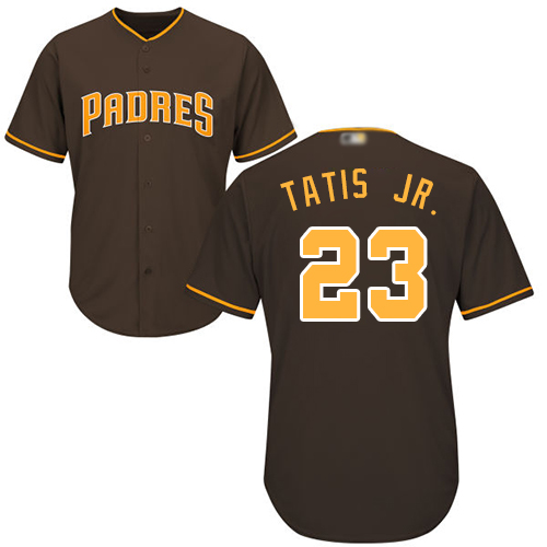 Padres #23 Fernando Tatis Jr. Brown New Cool Base Stitched Baseball Jersey