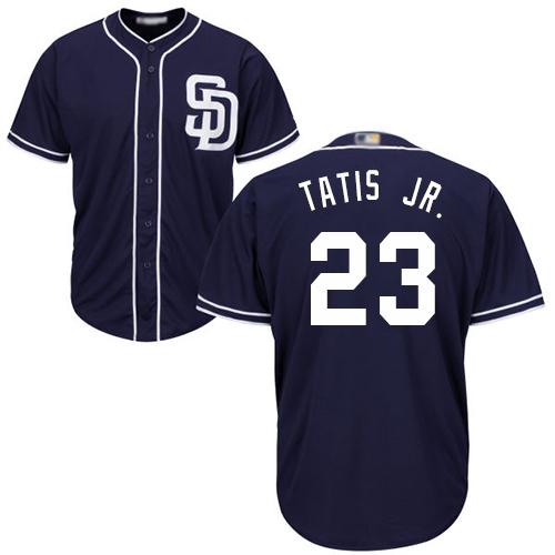 Padres #23 Fernando Tatis Jr. Navy Blue New Cool Base Stitched Baseball Jersey