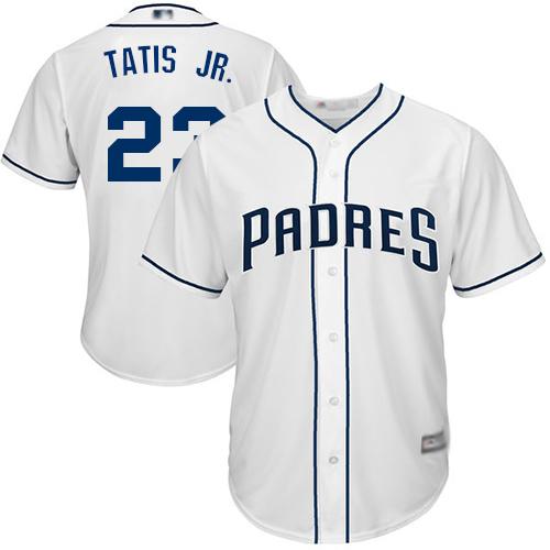 Padres #23 Fernando Tatis Jr. White New Cool Base Stitched Baseball Jersey