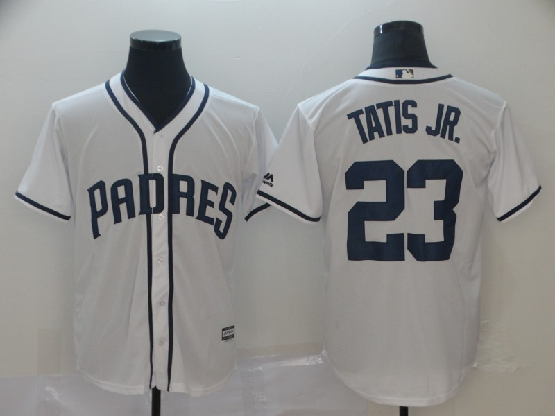 Padres 23 Fernando Tatis Jr. White Cool Base Jersey