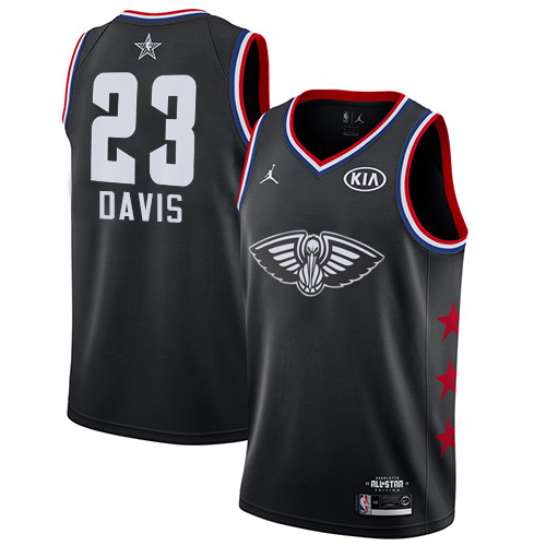 Pelicans #23 Anthony Davis Black Basketball Jordan Swingman 2019 All-Star Game Jersey