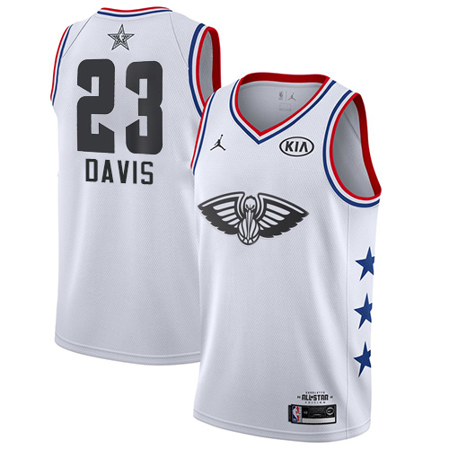 Pelicans #23 Anthony Davis White Basketball Jordan Swingman 2019 All-Star Game Jersey